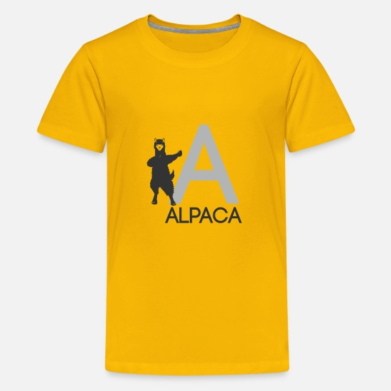 Fluffy T-Shirts - Alpaca - Kids' Premium T-Shirt sun yellow