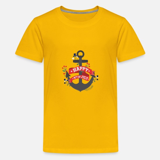 Anchor T-Shirts - Independence Day Anchor - Kids' Premium T-Shirt sun yellow