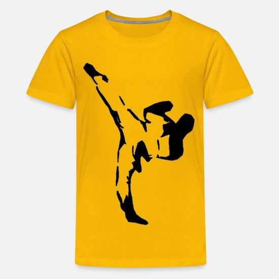 Kick T-Shirts - Side kick - Kids' Premium T-Shirt sun yellow