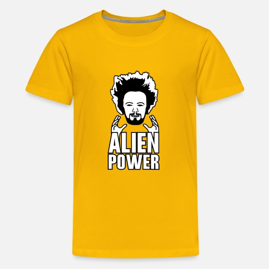 Power T-Shirts - Alien power - Kids' Premium T-Shirt sun yellow
