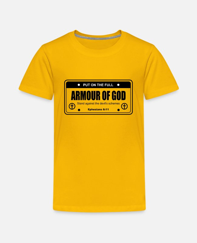 License Plate T-Shirts - Armour o f God - Kids' Premium T-Shirt sun yellow