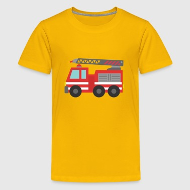 cute red fire truck - Kids' Premium T-Shirt