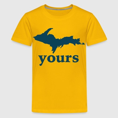 Up Yours Michigan Funny Upper Peninsula Apparel - Kids' Premium T-Shirt