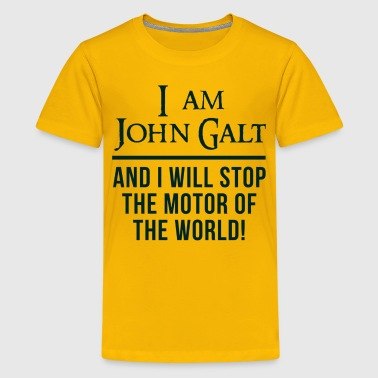 Atlas Shrugged John Galt Motor of the World - Kids' Premium T-Shirt