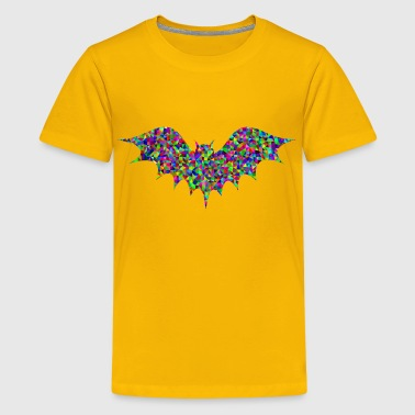 Low Poly Prismatic Bat - Kids' Premium T-Shirt