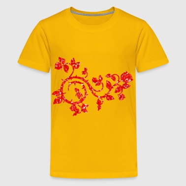 Ruby Roses And Vines - Kids' Premium T-Shirt