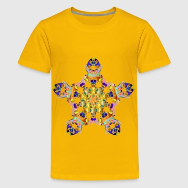 Hexagonal Tessellation Design 2 - Kids' Premium T-Shirt