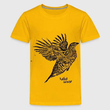 Ruffled Grouse Wings Outstretched - Kids' Premium T-Shirt