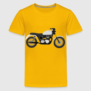 Grayscale Motorcycle - Kids' Premium T-Shirt