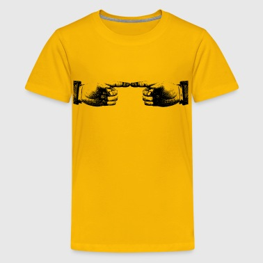 Two Hand Outlines - Kids' Premium T-Shirt