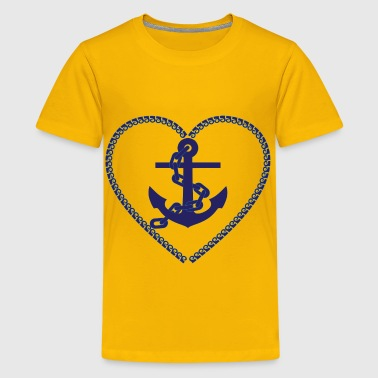 Nautical Heart - Kids' Premium T-Shirt