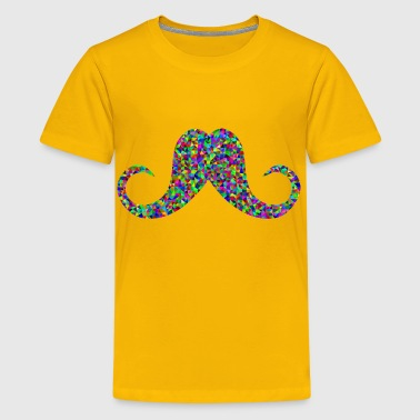 Prismatic Low Poly Mustache - Kids' Premium T-Shirt