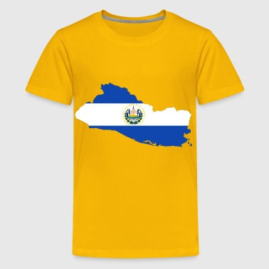 El Salvador Map Flag - Kids' Premium T-Shirt