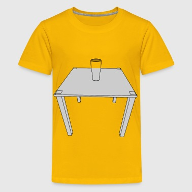 Glass on a table - Kids' Premium T-Shirt