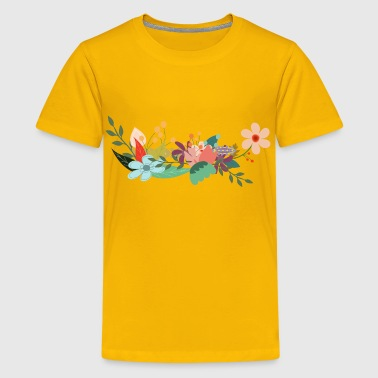 Raven With Key Minus Raven And Key Flowers - Kids' Premium T-Shirt