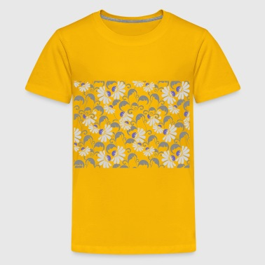 Flourishy Floral Pattern Background No Background - Kids' Premium T-Shirt