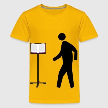 Professor at Lectern - Kids' Premium T-Shirt