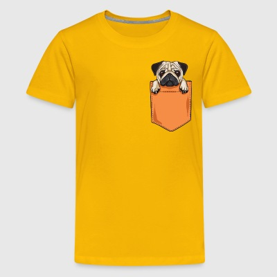 pug pocket - Kids' Premium T-Shirt