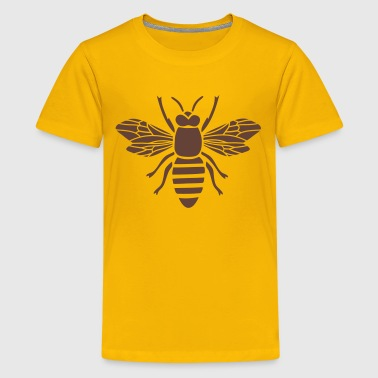 bee i love honey bumble bee honeycomb beekeeper wasp sting busy insect wings wildlife animal - Kids' Premium T-Shirt