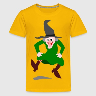 funny witch dancing jumping witches - Kids' Premium T-Shirt