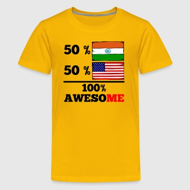 Half Indian Half American 100% Awesome - Kids' Premium T-Shirt