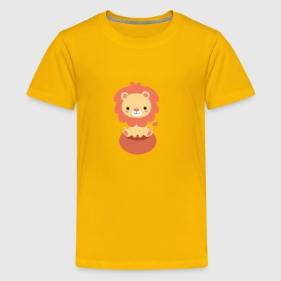 Cute Little Lion Design - Kids' Premium T-Shirt