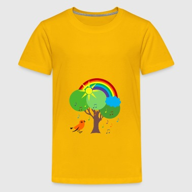 Cheerful bird - Kids' Premium T-Shirt