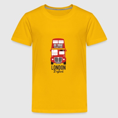 Cute Little London Bus Design - Kids' Premium T-Shirt