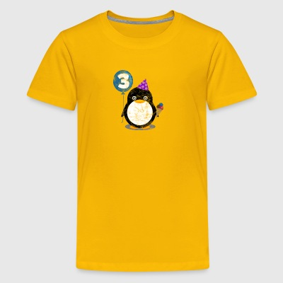 Kids Birthday 3 Year Boy Girl Cute Penguin Child - Kids' Premium T-Shirt