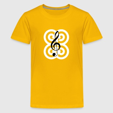 Treble clef - Kids' Premium T-Shirt