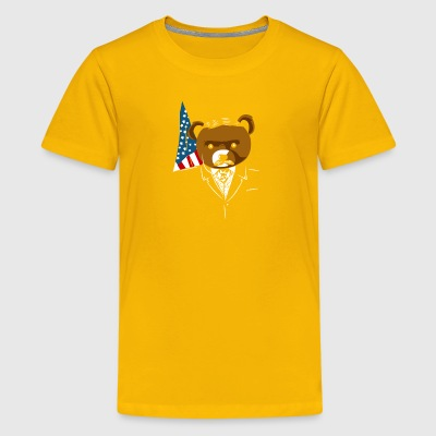 Teddy Bear Roosevelt - Kids' Premium T-Shirt