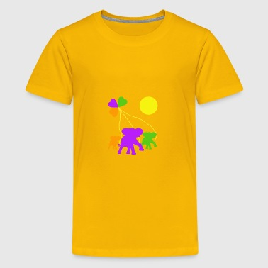 Three heart and three elephants - Kids' Premium T-Shirt