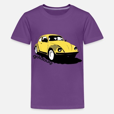 Yellow Vw. Bug Goldbug - Kids' Premium T-Shirt