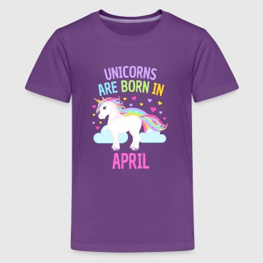 Unicorns Born in April - Kids' Premium T-Shirt