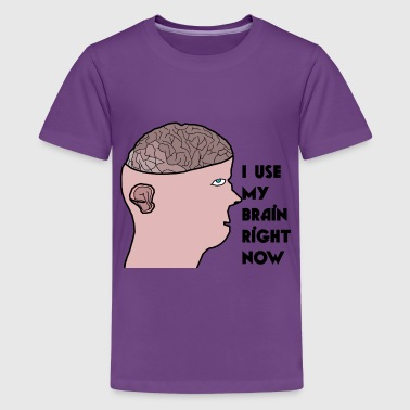 I use my brain - Kids' Premium T-Shirt