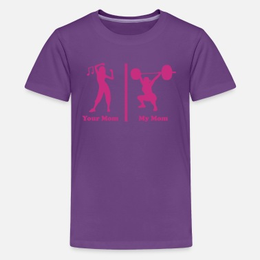 Crossfit Your mom my mom funny fitness - Kids' Premium T-Shirt