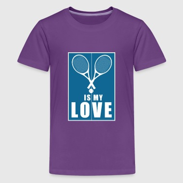 badminton is my love gift - Kids' Premium T-Shirt