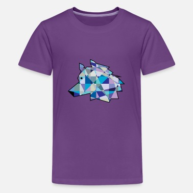 Profile Graphics Wolf Head graphic art | Profile Wolf face - Kids' Premium T-Shirt