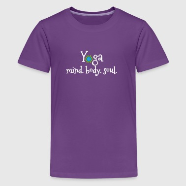 Yoga for the Mind, Body, and Soul with Mandala - Kids' Premium T-Shirt