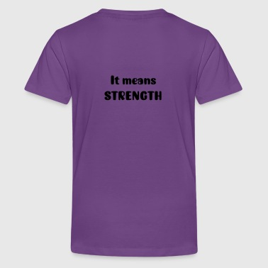 It Means Strength Boys Purple Martial Arts T shirt - Kids' Premium T-Shirt
