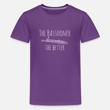 Pillow Top Funny Bassoon Bassooner the Better Gift Design - Kids' Premium T-Shirt