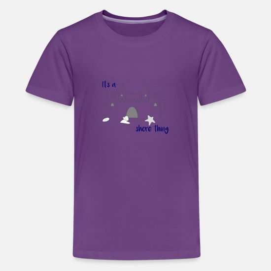 Shore T-Shirts - Beach It's a Shore Thing Jersey Shore - Kids' Premium T-Shirt purple
