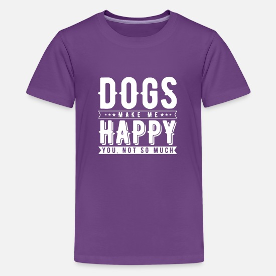 Dog Owner T-Shirts - New Dog Dogs Make Me Happy You Not So Much Dog - Kids' Premium T-Shirt purple