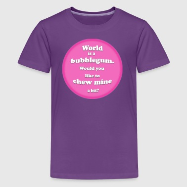 Bubblegum world - Kids' Premium T-Shirt