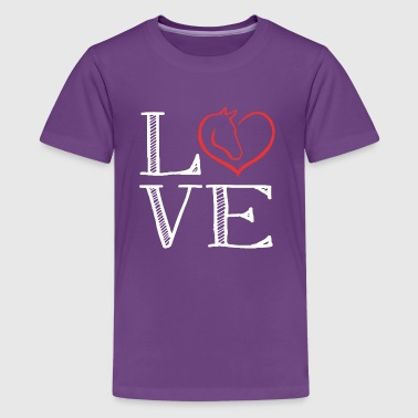 Horse Love loving the horse - Kids' Premium T-Shirt