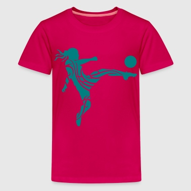 Soccer female - Kids' Premium T-Shirt