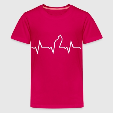 Cat Heartbeat - Kids' Premium T-Shirt