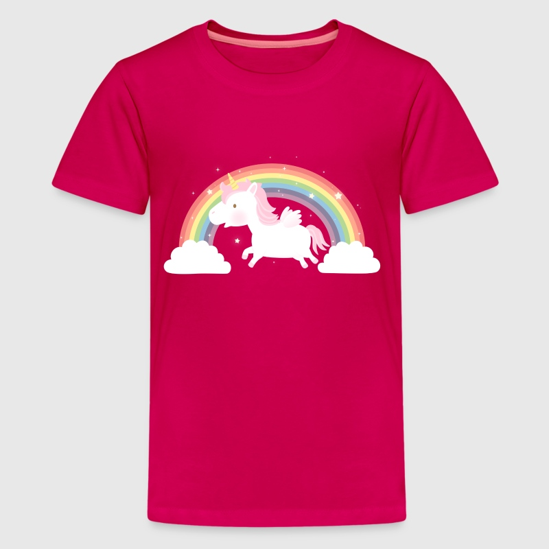 Cute Unicorn and Rainbow - Kids' Premium T-Shirt