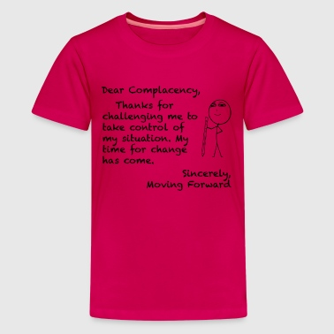 COMPLACENCY - LETTERS TO LIFE BLACK PRINT - Kids' Premium T-Shirt