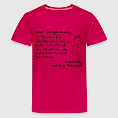 Complacent COMPLACENCY - LETTERS TO LIFE BLACK PRINT - Kids' Premium T-Shirt